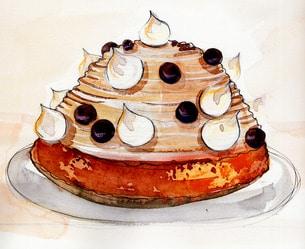 chestnut dessert and wines